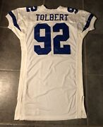 Dallas Cowboys Tony Tolbert Vintage Game Worn 1994 Russell Jersey Size 52 L