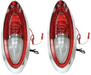 1954 Full Size Chevy Bel Air 210 Nomad Tail Lamp Light Assembly Pair Rh And Lh Dii