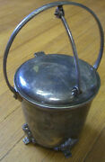 Antique Mohan Meakin Brewery Ltd Silver Plated Cigar Box Or Ice Bucket C.1900