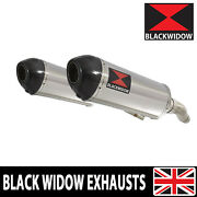 Triumph Street Triple 675 2007-2012 Exhaust Silencers Stainless Carbon Tip 300st