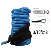 Winch Rope Cable 6000lb Atv Utv Suv Truck Boat Ramsey Cord Wire Emergency Strong