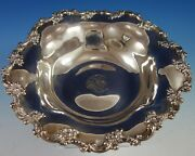 Black Starr And Frost Sterling Silver Fruit Bowl W/ Roses Scrollwork 5179 2811