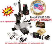 Sherline 5800a-dro Inch Deluxe Mill Package A. Oil Reservoirs On All Axes.
