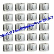 250/ Roll Direct Thermal Shipping Barcode Labels 4x6 For Zebra Eltron 2844 Zp450