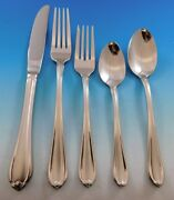 Melon Bud Frosted By Gorham Stainless Steel Flatware Set Service 8 New 45 Pc