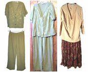 Collections 2 Piece Top And Pants Set Or Top And Skirts Set Career Wear Size L