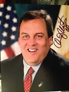 Signed Governor Criss Christy 8x10 Color Photo Republican Governor New Jersey