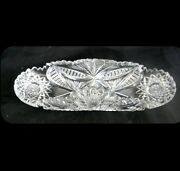 Vintage Celery Dish In Clear Crystal And Cut Designsl