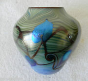 Art Deco Vase With Pulled Feather - Hanging Heart Design