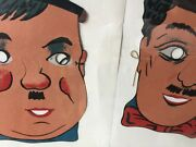 Toy Cardboard Face Mask Oliver Hardy And Charley Chaplin Never Used