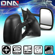For 1999-2007 Ford F250 F350 F450 Super Duty Pair Dual Arm Powered Towing Mirror