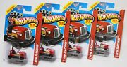 Bump Around Lot Of 4 2013 Hot Wheels Red Bumper Car First Edition