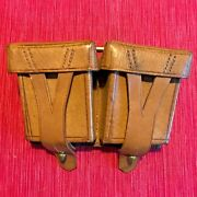 Mosin Nagant Brown Leather Ammo Pouch Authentic Soviet Army