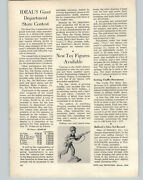 1954 Paper Ad Article Product Engineering Toy Company Soldiers Indians Cowboys