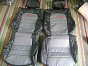 Custom 1991-1999 Mitsubishi 3000gt Replacement Leather Seat Cover Black/grey