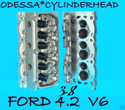 2 Ford Mustang F150 Truck 3.8 4.2 Ohv Cylinder Heads Castxf2e 97-05 No Core