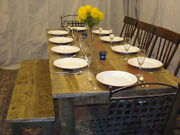 Rustic Dining Table Driftwood Table Reclaimed Wood Table 80 X 32 X 30h