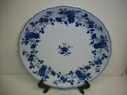 Fine China Royal Meissen Blue And White Round Serving Platter Chop Plate