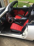 1990-2000 Mazda Miata / Mx-5 Replacement Leather Seat Covers Black/red