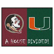 Fanmats 7115 Florida State - Miami House Divided Rug 33.75x42.5