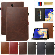 Leather Tablet Case Cover For Samsung Galaxy Tab S4 10.5 2018 Sm-t830/sm-t835
