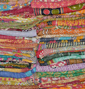 Wholesale 50 Pc Lot Indian Vintage Traditional Handmade Cotton Kantha Quilts