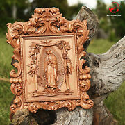 42 Our Lady Of Guadalupe 3d Art Orthodox Wood Carved Icon - Gift.