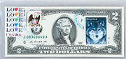 Federal Reserve Bank Notes Paper Money Usa 2 2009 Unc Stamp Cancelled Gray Wolf