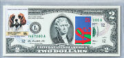 Two Dollar Bill 2 2009 Gem Unc National Currency Note Paper Money Stamp Spaniel