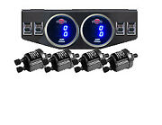V Digital Air Ride Gauge And Control Panel 4 Switches Air Suspension System