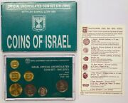 Israel Official Uncirculated Coin Set 1991 - With Levi Eshkol Coin 1990