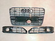 Audi A8 D4 W12 Genuine Grille And Acc Cover 4h0853651af 4h0807679t 4h0807680t