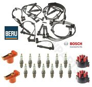 For Porsche 911 Naturally Aspirated Wire Set And Rotors And Caps And Spark Plugs Kit