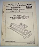 Versatile Ford New Holland 4250 Swather Frame 4000 Table Head Parts Catalog Nh