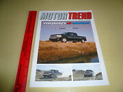 2007 Chevrolet Silverado Truck Of The Year Motor Trend Article Reprint