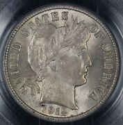 1912 10c Barber Dime Pcgs And Cac Ms 63