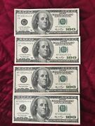 4 Consecutive Series 2006 Kf 100 Dollar Bills Mint Conditionhard To Find