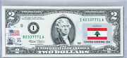 Us Currency Paper Money Two Dollar Bill Gem Unc Collection Stamps National Flags
