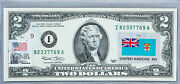 Two Dollar Note Us Currency Paper Money 2 2003 Gem Unc Business Gift Flag Fiji
