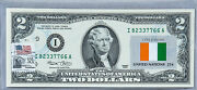 Two Dollar Note Us Currency Paper Money 2 2003 I Hotel Decor Flag Cote D'ivoire