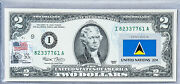 Us Two Dollar Bill Currency Paper Money 2 Federal Reserve Note Flag Saint Lucia