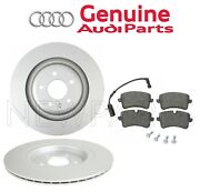 Set Of 2 Rear Brake Disc Rotors Vented 330mm With Pads Oes For Audi A6 Quattro