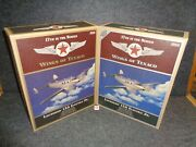 Wings Of Texaco Lockheed 12a Electra Jr. Airplane Reg And Se Set - 17 In Series D
