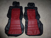 Custom 1991-1999 Mitsubishi 3000gt Replacement Leather Seat Cover Black/burgundy