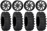 Msa Milled Switch 18 Atv Wheels 35 Xm310 Tires Can-am Renegade Outlander