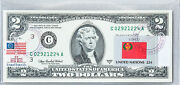 Two Dollar Bill Federal Reserve Bank Notes Us Currency Gem Unc Stamps Flag Congo