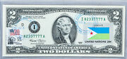 Two Dollar Note United States Currency 2 2003 Paper Money Country Flag Djibouti