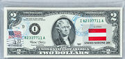 Two Dollar Note Federal Reserve Bank 2 Us 2003 Gem Unc Collection Flag Austria