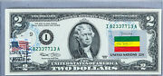 National Currency Note Us Dollar Bills 2 2003 Unc Federal Reserve Flag Ethiopia