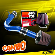 For 00-05 Dodge Neon Sohc 2.0l 4cyl Blue Cold Air Intake + Kandn Air Filter